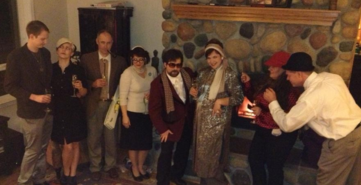 Cast of Host a Classic Downloadable DIY 1940s Murder Mystery Party Kit: The Curse of the Comet from John Stevens in Oregon City, Oregon