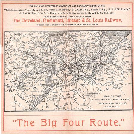 Big Four Route Map.