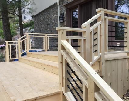 Alaska Yellow Cedar Decking and Railing