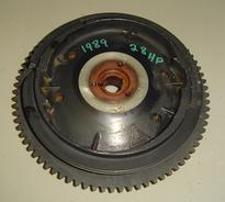 583474 Used flywheel for a 1989 28 hp Johnson or Evinrude outboard motor OEM #583474