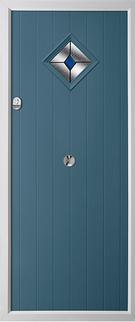 Cottage diamond composite door in duck egg blue