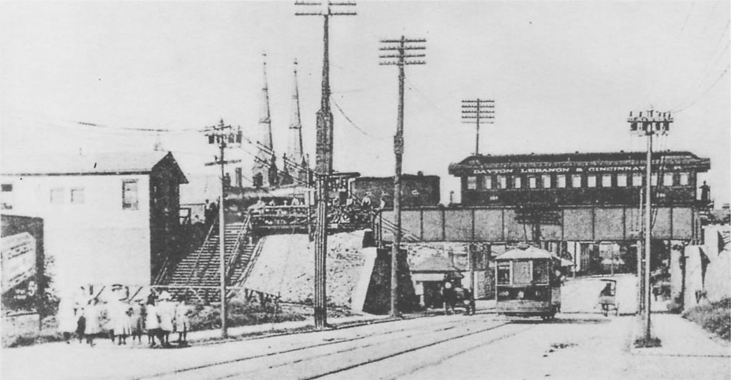 DL&C train at Washington Street, 1912.