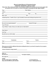 HARPS Assisted Adoption Application