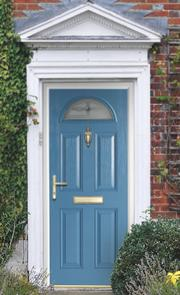 Double rebate external GRP composite door