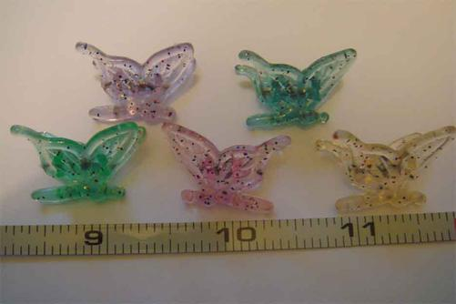 multicolored decorative tiny butterfly plant clips