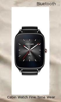 ASUS ZenWatch 2 WI501Q (BQC) Smart Watch - International Stock - Gunmetal Case with Grey Metal Band,bluetooth watches