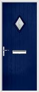 Cottage Diamond Composite Door bullseye glass