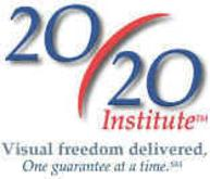 20/20 Institute logo with Vision freedom delivered, One guarantee at a time.