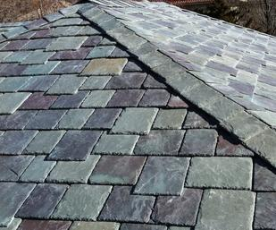 green slate roof system; slate roof installation in Houston; Houston roofing contractor; slate roofing systems available in Houston