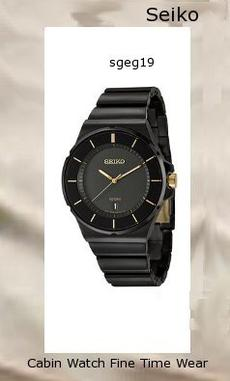 Watch Information Brand, Seller, or Collection Name Seiko Watches Model number SGEG19 Part Number SGEG19 Item Shape Round Dial window material type Hardlex Display Type Analog Clasp Push-Button Clasp Case material Stainless steel Case diameter 42.3 millimeters Case Thickness 9.7 millimeters Band Material Stainless steel Band length Men's Standard Band width 24 millimeters Band Color Black Dial color Black Bezel material Stainless steel Bezel function Stationary Calendar Date Special features measures-seconds Movement Japanese quartz Water resistant depth 330 Feet,watch repair near me