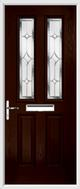 2 Panel 2 Square Composite Door regal sapphire glass