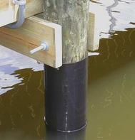 Boat Dock Accessories: Pile Wrap.