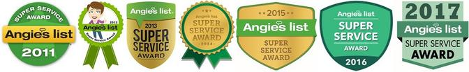 Seven times Angies List Super Service award recipien A1 pressure washing