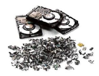 Pulverized Hard Drives