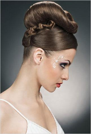 Modern Beehive Wedding Updo Hairstyles