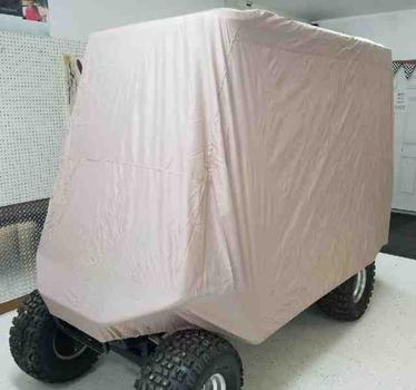 Cart Storage Cover on cart, Hot Rod Golf Cart