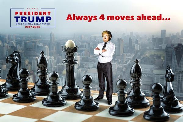 Donald Trump: four moves ahead of the progressives.