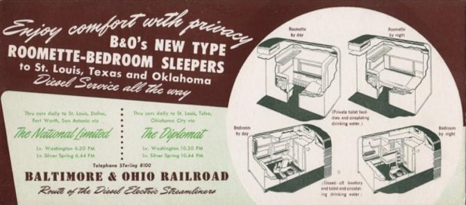 National Limited and Diplomat ink blotter ad.