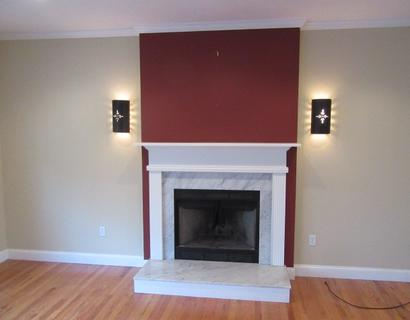 newly painted living room in Taunton, MA.