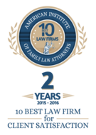 Charlotte Family Lawyer, Best Client Satisfaction Award