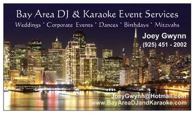 Bay Area DJ & Karaoke Business Card