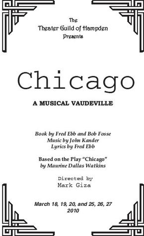 The Theatre Guild of Hampden Presents Chicago