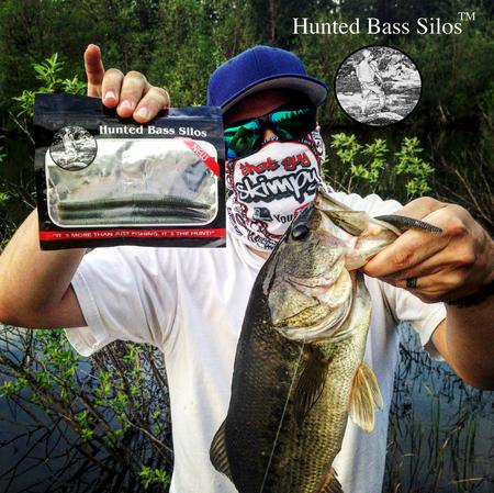 That Guy Skimpy catching bass with HBS Jerk Stick plastic worms