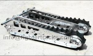 Rubber track chassis for wheelchair