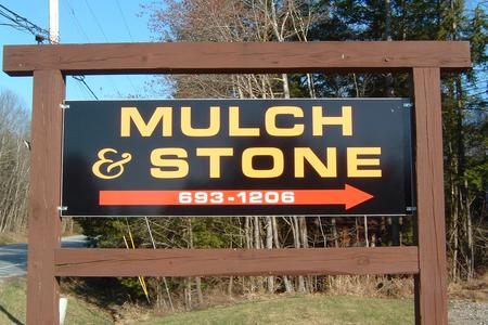 Mulch and Stone sign