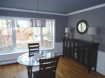 newly painted dining room in Foxboro, MA.
