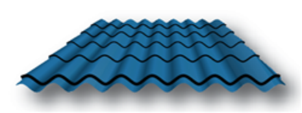Spanish Mexican Simulated Clay Tile Metal Roofing