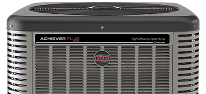 The Ruud Achiever Plus heat pump unit brings new meaning to the phrase high efficiency