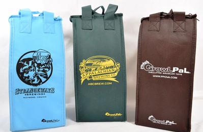 Custom printed insulated growler bags