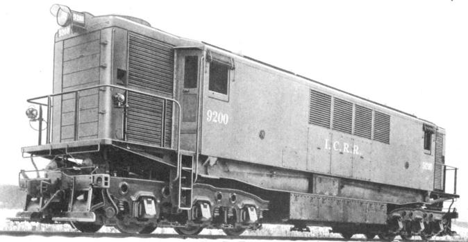 Illinois Central No. 9200, a GEIR 175-Ton Transfer Locomotive.
