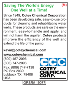 Cotey Chemical, Water Well Rehabilitation