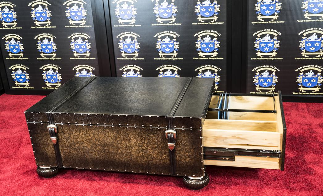 Leather Trunk Coffee Table