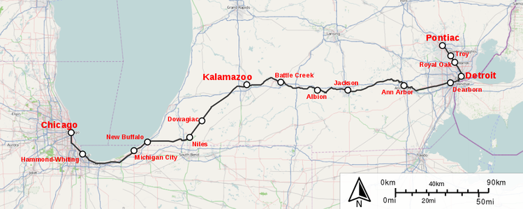 Wolverine Route Map.