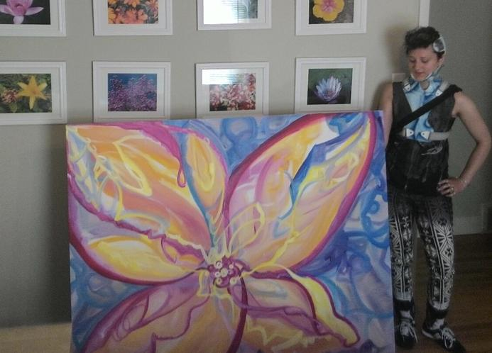 FLOWER POWER, abstract wall art, art decor, interior design, Unus Mundus Art by St. Louis Artist Jasmine Raskas