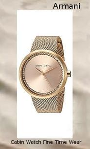 Armani Exchange Women's AX4502 Gold