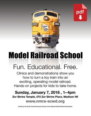 2018 Rail School Flyer