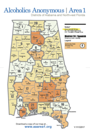 AA Area 1 District Map