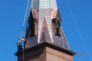 new copper steeple roof