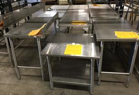 Used Stainless Steel Tables >> Used Tables
