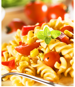 Pasta Salad with fresh tomatoes