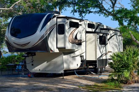 parked recreational vehicle