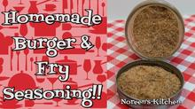 Homemade Burger and Fry Seasoning Recipe, Noreen's Kitchen