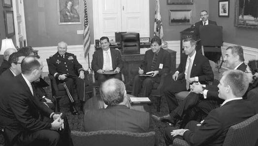 Charles Dillon meeting with the Governor of Maryland, the Prime Minster of Montenegro, and other senior government officials from the US government and the State of Maryland.