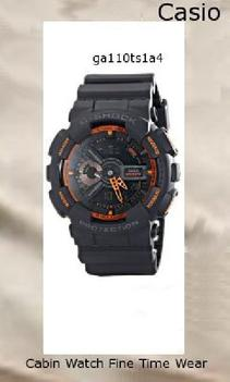 Watch Information Brand, Seller, or Collection Name Casio Model number GA-110TS-1A4 Part Number GA-110TS-1A4 Model Year 2011 Item Shape Round Dial window material type Mineral Display Type Analog-Digital Clasp Buckle Metal stamp none Case material Resin Case diameter 5.5 centimeters Case Thickness 16.9 millimeters Band Material Resin Band length Mens-Standard Band width 5.1 centimeters Band Color Grey Dial color Black Bezel material Resin Bezel function 24 hour time display Calendar Day, date, and month Special features Stop watch, Shock resistant, Timer, World Time Movement Quartz Water resistant depth 660 Feet