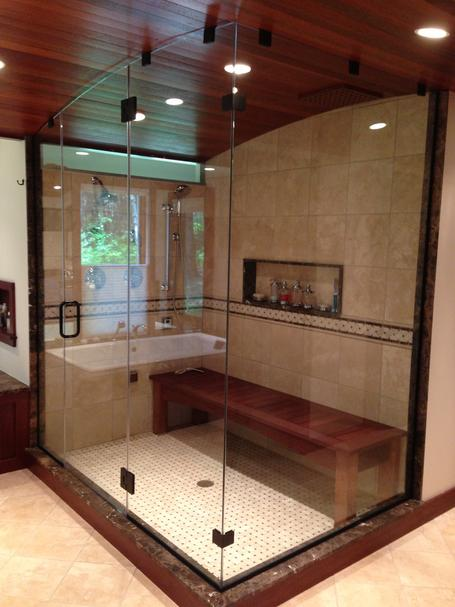 Stupendous Frameless Glass Shower Doors Mirrors The Glass Shop Sheffield Ma Largest Home Design Picture Inspirations Pitcheantrous