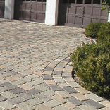 Camelot™ Driveway pavers with two garages